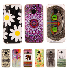 Fashion Owl Tower Flag Flower TPU Silicone Soft Case For HTC One M9 M9W Back Skin Cover Cell Phone Protective ShockProof Bags
