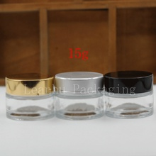 15g transparent glass cream bottle, 15cc beauty skin care cream bottle, cosmetic packaging bottles