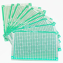 10PCS Prototype PCB Board Protoboard Tinned Universal Breadboard Prototyping Solderless FR4 PCB Double-Sided 5x7 cm 50x70mm FR4(China)