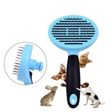 Professional Dog Grooming Brush Comb Removes Tangled Mats Undercoat Pet Grooming Shedding Massage Tool for Large Dog with Hair(China)