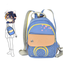 Touken Ranbu Online Imanotsurugi COS Washed Denim Women Mini Backpack Mochila Feminina Kawaii Children Backpacks School Bags(China)