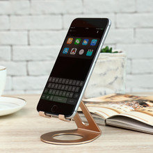 FLOVEME Aluminum Alloy Phone Stand Holder For iPhone 6S 8 Phone Holder Tablets Universal Desk Holder For Samsung Galaxy Note 8(China)