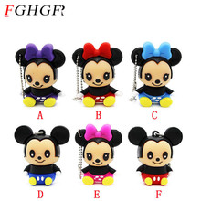 FGHGF Lovely mini Mouse Mickey Minnie USB Flash Drive cute pen drive Gift cartoon pendrive 4GB/8GB/16GB/32GB Wholesale(China)