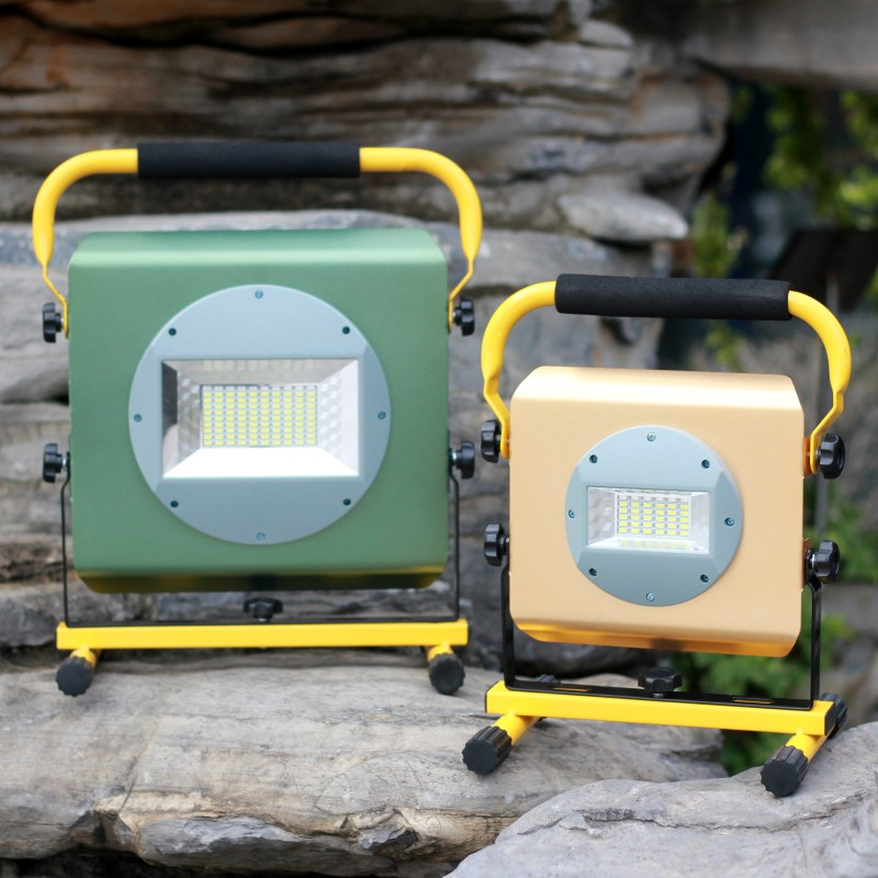 YUPARD Searchlight flood light Spotlight Brightness 100W 50W lamp flashlight Outdoor camping rechargeable 18650 battery charger<br>
