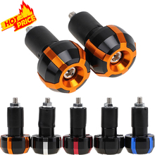 "7/8"" 22mm Universal Motorcycle Handlebar Ends Grips Weights Anti Vibration Plug Slider Motocross For KTM Honda Yamaha R3 R6 Z800"