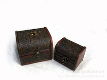 Retro Wooden Jewelry Box Antique Jewelry Box Treasure Chest Rough Road Wooden Storage Box Dressing