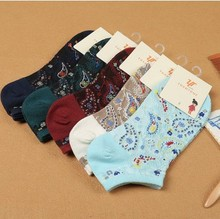 20Pairs/Lot new summer mesh women socks cotton lady socks wholesale manufacturers personality retro tail boat socks(China)
