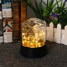 Mayli Battery Operated Romantic Crystal Star Ball LED Night Light Stage Lighting Party Night Lamp Table Light DC4.5V