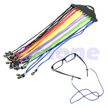 Colorful 12Pcs Eyewear Nylon Cord Reading Glass Neck Strap Eyeglass Holder NEW-Y107