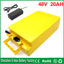 DIY 48v lithium ion battery 20ah 48v battery 1000W 48v bafang bbs03 electric bicycle battery with waterproof case and charger