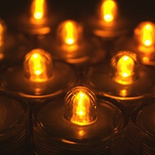 12pcs/lot LED Waterproof Wedding/Party/ Xmas Floral Decoration Tea Vase Battery light Candles