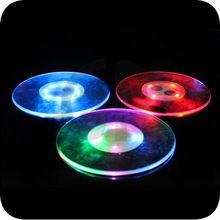 new 4pcs LED RGB color changing KTV bar coaster round coasters bottle stickers advertising Electronic luminous Coasters