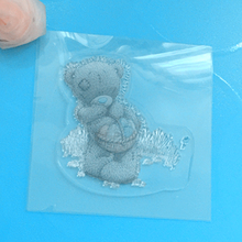 YLCS144 Small Bear Silicone Clear Stamps For Scrapbooking DIY Album Paper Cards Making Decoration Embossing Rubber Stamp 10x10cm