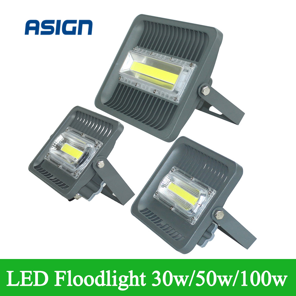 More Long Lifespan 30W 50W 70W 100W LED Floodlight AC85-265V Warm/Cold White Led Outdoor Lamp <br><br>Aliexpress