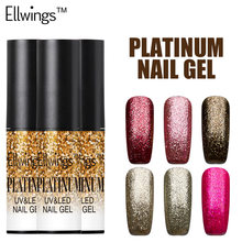Ellwings Soak Off Nail Polish LED Shine Platinum Gel Nail Polish Semi-permanent UV Gel Varnish Manicure for Nail Art