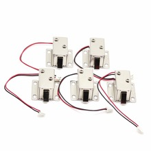5pcs/Lot Mini Small Size Solenoid Electromagnetic Electric Control Cabinet Drawer Lock DC 12V(China)