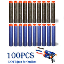 100pcs Soft Hollow Round Head And Sucker Refill Darts Toy Gun Bullets for Nerf Series EVA military Gift Toys For Kid Children(China)