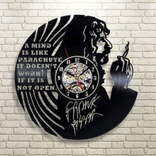 Frank Zappa Vintage CD Record Clock Vinyl Record Wall Clock Modern Handmade Art for Fans Creative 3D Hollow Hanging Watch(China)