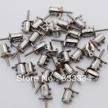 Wholesale  20PCS 4 Wire 2 Phase micro stepping motor dc mini stepper motor With a small screw D6mm X H10mm for carema diy fun