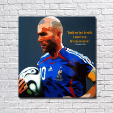 Free Shipping High Quality Handpainted Football Poster Pop Art 100% Handmade Art Framed Canvas Oil Painting Wall Art RW382(China)
