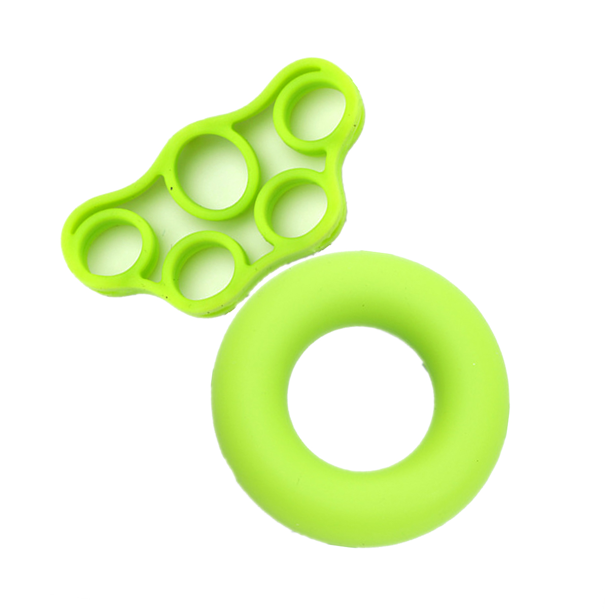 MAYITR 2PCS Silicone Hand Grip Finger Ring Fitness Stretcher Hand Exercise Gym Grip Finger Trainer Strengthener
