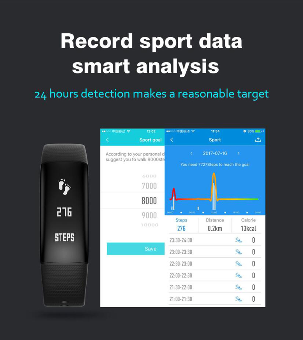 Smart Wristband A69 Smartband Heart Rate Blood Pressure Watches Smart Bracelet Fitness Tracker as xiaomi mi band 2 as fitbit
