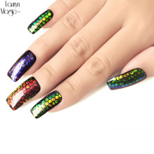 1pcs Shining Scales Nail Sequins Glitter Tips Colorful Glitter Powder Dust Manicure DIY Nail Art Decoration Accessories(China)