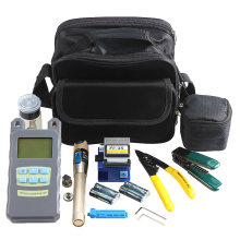 AUA 9 In 1 Fiber Optic FTTH Tool Kit with Fiber Cleaver Optical Power Meter 5km Visual Fault Locator(China)