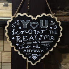 Buy Romantic 2Styles Wodden Heart Blackboard Wedding Sign Hanging Plaque Gifts Marriage Party Decorative Accessories for $7.86 in AliExpress store