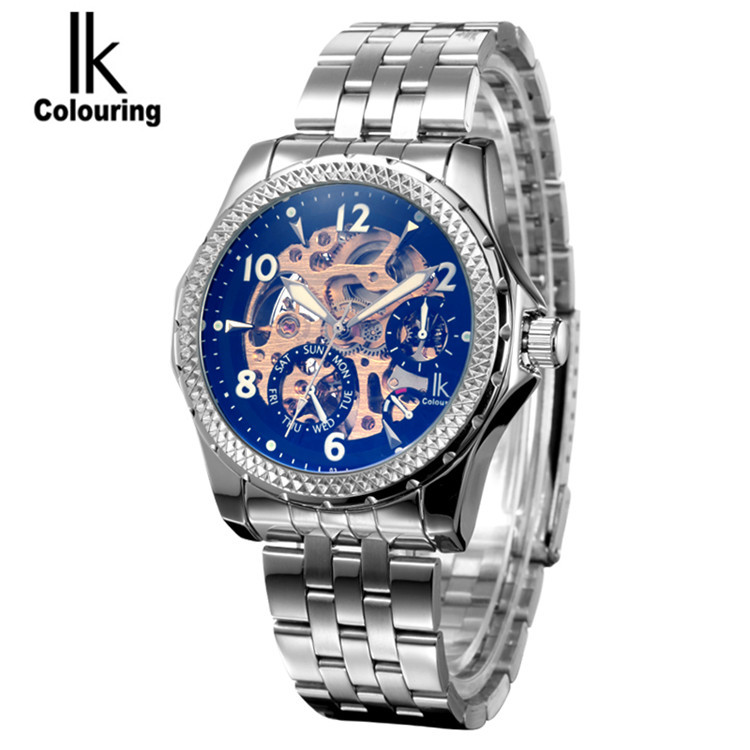 New 2017 IK Colouring Luxury Mechanical Sapphirel Watch Auto  Mens Watches Wristwatch Free Shipping   Gifts<br>
