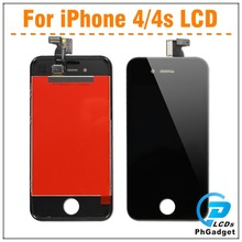 100 pcs/lot Display LCD and touch screen Digitizer for iphone 4 4S ,free shipping, White/Black(China)