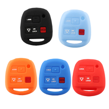 5 Colors 3 Buttons Silicone Car Key Shell Remote Cover For Lexus GX470 RX350 ES300 RX300 RX400h LS LX NX RC RX SC GS(China)