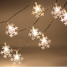 Buy 2.5M 20 LED Snowflake String Light Lamp Holiday Lighting Wedding Garden Party Supplies Christmas Decorations Home for $3.53 in AliExpress store