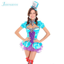 JIZHENGHOUSE Halloween Party Poker Girl Costume Sexy Outfits Dress Games  Costumes(China) 27eb6d42fb3c