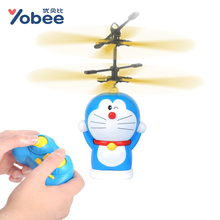 Funtree Real 2.4g 3 Channels Remote Aircraft Children Toys Music Flying Doll RC Helicopter Coreless Doraemon Robot Usb Charger