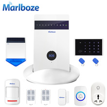 Marlboze G15 Russian Spanish English Voice IOS Android APP Remote Control Wireless 433mhz PIR Home Security GSM Alarm System(China)