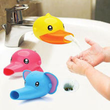 1 pc Free shipping Happy Fun Animals Faucet Extender Baby Kids Hand Washing Bathroom Sink Gift(China)