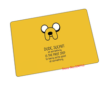 Adventure Time mouse pad  Jake The Dog game pad to mouse notebook computer mouse mat brand gaming mousepad gamer laptop