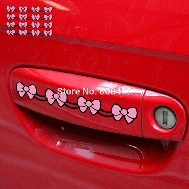 4 x Funny Hello Kitty Car Stickers Car Decorative Decal for Tesla Toyota Chevrolet Mazda BMW Honda Volkswagen Hyundai Kia Lada(China)