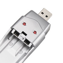Best USB Charger Silver for Ni-MH AA AAA Rechargeable Battery for Standard Battery High Capacity
