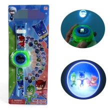 Pj Cartoon Mask 3D Projection Watch PJmasks Toys Characters Catboy Owlette Gekko Cloak 20 Images Action Toys For Birthday Party(China)