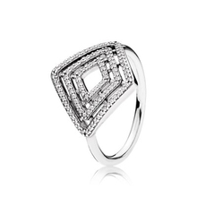100% 925 Sterling Silver Geometric Lines Ring PANDORAS Fit diy Original Charm rings Gift for girls(China)