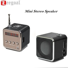 TD-V26 Mini USB Micro SD TF Speaker Music Player Portable FM Radio Stereo Super Bass Speaker Subwoofer  MP3 Speaker For Phone