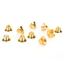JETTING 10pcs/set Metal Christmas Bells Loose Beads Festival Party Christmas Tree Ornament Decor Kids Children Xmas Gift 21mm