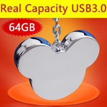 Metal Mini Usb Stick Mickey Head Usb Flash Drive 3.0 64gb 128gb Pendrive 1tb 2tb Memory Sticks Gifts Real Capacity+Good Quality