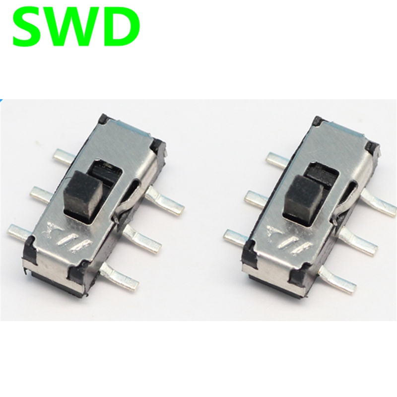 10pcs on-off switch Pull switch 2P2T 6-pin SMD slide switch #DSC0011<br><br>Aliexpress