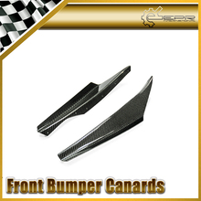 EPR Car Styling For Nissan R34 GTR Carbon Fiber Z-Tune Front Bumper Canard Glossy Fibre Finish Exterior Accessories Racing Trim