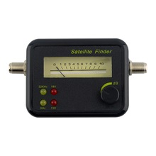 Plastic Black Mini Digital LCD Display Satellite Signal Finder Meter Tester With Excellent Sensitivity