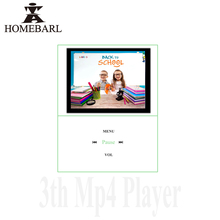 "HOMEBARL 3th 1.8"" LCD Speaker MP4 Player Music FM Radio Video With 8GB 16GB 32GB Micro SD Card/TF Card Slot Cloth Earphone 20B3"