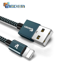 TIEGEM USB Charger Cable for iPhone 5 5s 6s 6 7 Plus Mobile Phone Cable Data Sync wire cord 1m 2m 3m Charging Cable for iOS 9 10(China)